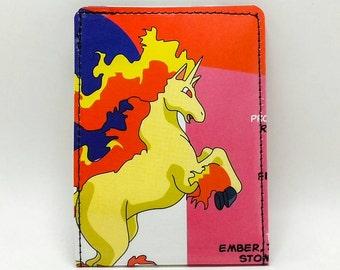 Sewn Comic Book Wallet - Pokemon Handbook Wallet - Rapidash