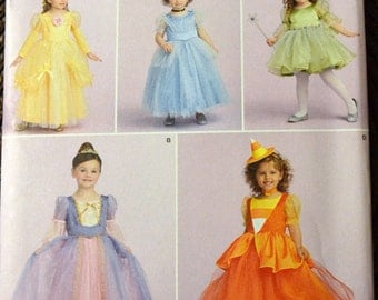 Costume Sewing Pattern Simplicity 1303 Baby Girls' Princess Dresses Size 1/2 -2  Uncut Complete