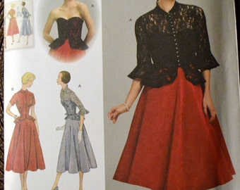 Sewing Pattern Simplicity 1250 Misses 50's Dress and Jacket  Size 6-14 Bust 29-36 inches Uncut Complete