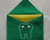Green tooth fairy mailing envelope