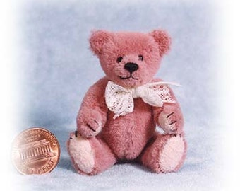"PDF Pattern & Instructions for Miniature Teddy Bear - Chubby Rose - 2 3/4"" tall -  by Emily Farmer"
