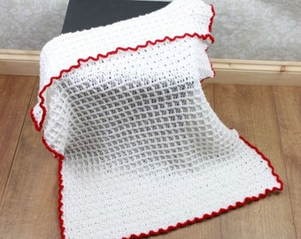 CROCHET PATTERN For Waffle Stitch Baby Afghan Blanket PDF 326 Digital Download