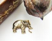 SILVER Asian Elephant Antique Silver Ox Brass Stampings - Jewelry Ornament Findings (FA-6093) #