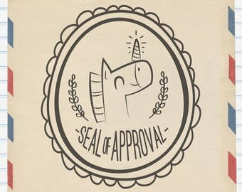 Rubber Stamp - Unicorn Seal of Approval
