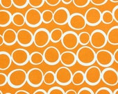 SALE Happy Halloween fabric by Fabric Shoppe Fabrics- Spooky Circles in Orange, You Choose The Cut