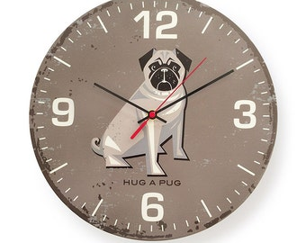 Special Edition: Hug a Pug Round Clock