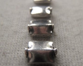Metal Bead Sterling Silver Square Bead  Item No. 6947