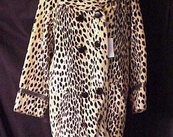 Vintage Leopard faux fur Coat Deluxe plush
