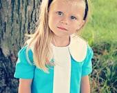 Retro 1960s style Turqoise Lauren dress- childrens clothing-girls dresses