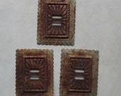 3 Pieces Semi Rusty Metal Southwestern Conchos Assemblage Sculpture Welding 3D Altered Art Shrine Shadowbox Mixed Media Supplies