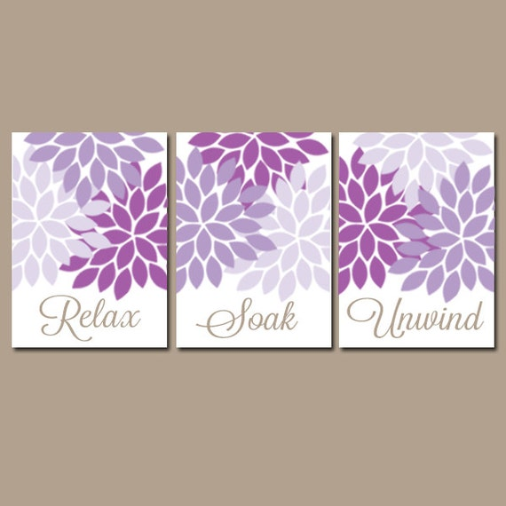 bathroom wall art canvas or prints purple lavender by trmdesign. Black Bedroom Furniture Sets. Home Design Ideas