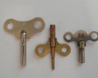 Vintage Clock Keys THREE
