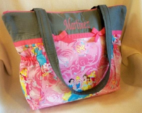 Disney Diaper bag Pink Princess Handmade Diaper by ...
