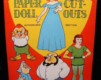 Original 1936 Gulliver's Travels Paper Doll Cut-Outs