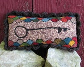 Primitive Needlepunch Needle Punch Pillow Tuck Pin Stay Keep Original Primitivebettys