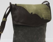 Waxed Canvas and Leather SHOULDER BAG Durable Rugged Stylish