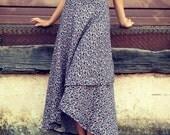 100% Hemp Linen // Tulip Wrap Skirt // One Size Fits All // Eco Fashion