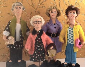 The Cast of Golden Girls Doll Miniature Set - Art Dolls-Vintage Television