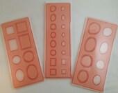 CaBezel Jewelry Molds Set of 3 -Mini, Organic and Geometric