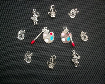 10 Artist Painter Themed Charms