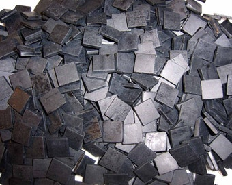 Mini Black Tumbled Stained Glass Mosaic Tiles