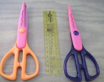 2 pair of crafting scissors.