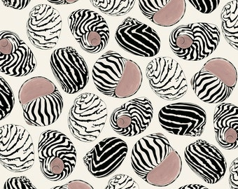 "Sea Shell Art Print - Sea Shell Pattern - Ocean Art Pattern  - 8.3"" X 11.7"" - 4 for 3 SALE"