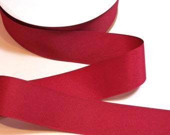 Burgundy Red Ribbon, Light Burgundy Grosgrain Ribbon 1 1/2 inches wide x 10 Yards, Offray Raspberry Wine Ribbon