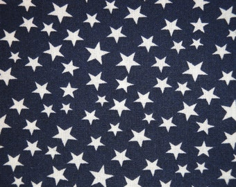 Scattered Star Fabric | Navy With White Star Fabric | Quilt Fabric | Home Decor Fabric | Apparel Fabric | Americana Fabric | 1 Yard