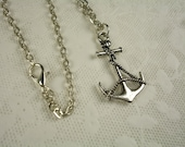 Anchor Pendant with a Rolo Link Chain Necklace No. 3