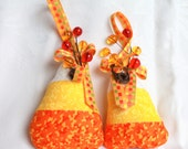Halloween decoration OnePair of Candy Corn Hanging Ornaments