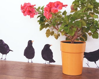 Wall sticker with Blackbirds