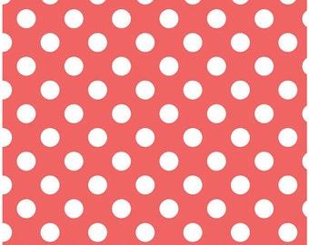 Riley Blake Medium Dot Rouge Fabric, 1 yard