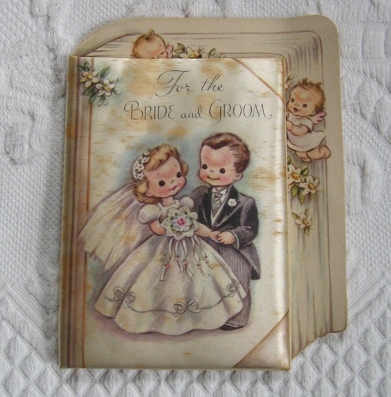 Vintage Wedding Gifts For Bride And Groom : Little Wedding Book 60s / For The Bride and Groom / Vintage Wedding ...