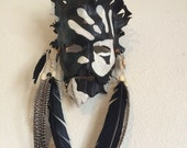 Shaman War Paint Leather Mask