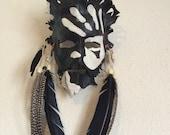 Shaman War Paint Leather Mask