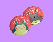 Id Rather Be Sleeping | 2.25 inch pin back button