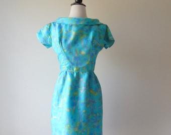 Efflorescence dress | vintage 1950s dress | floral 50s dress