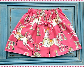 girls Carousel skirt dancing Pony skirt back to school 2 3 4 5 4/5 6/X 7/8 10/12