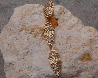 Bracelet, Vintage Diamond Cut Bracelet