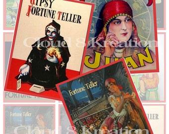 Fortune Tellers Digital Collage Sheet