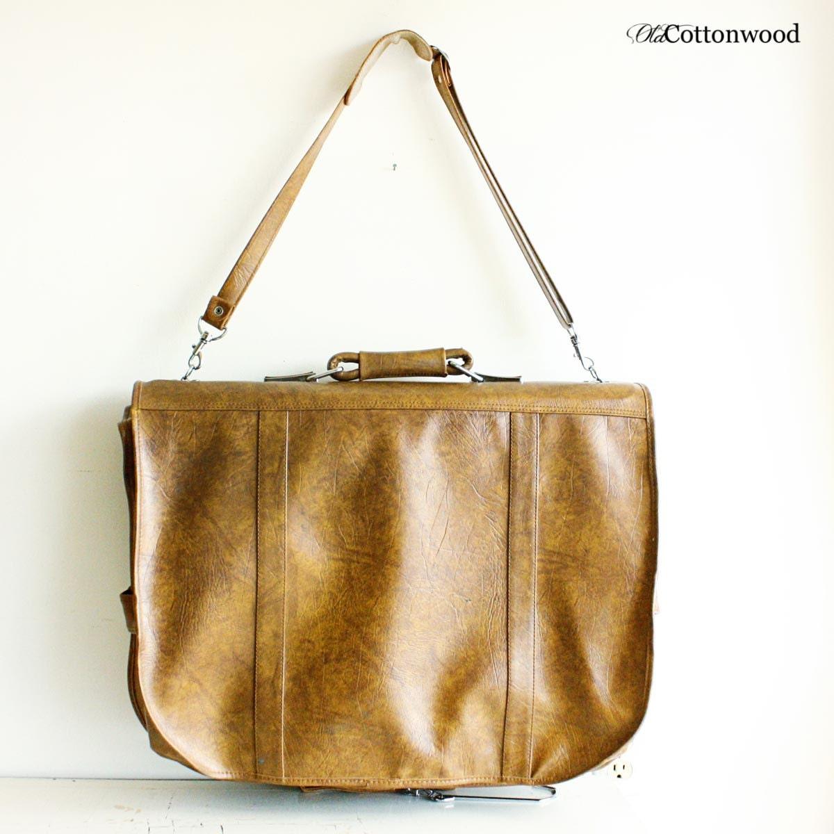 vintage hanging bag garment bag travel bag by oldcottonwood