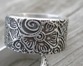 Laasya Ring Sterling Silver Band MADE TO ORDER