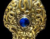 Bright Nepali Brass Pendant - Repousse' Mantra