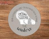 Christmas Address Label Sticker, Personalized Mailing Label, Gift Sticker - Merry Christmas Polar Bear