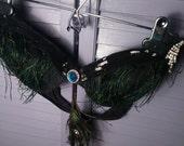 Peacock Rhinestone Burlesque Bra SALE