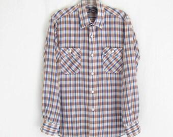 Vintage 80's LEVIS  Plaid Slim Fit Shirt