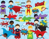 Superhero clip art - comic book clip art male super heroes men sounds sayings super hero pow wham zap for personal and commercial use