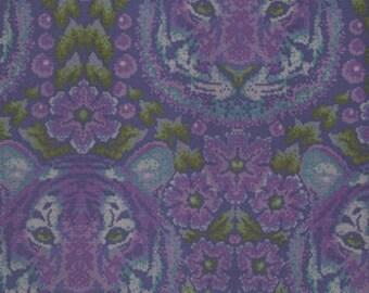 Tula Pink Crouching Tiger Amethyst Eden  Freespirit Fabric 1 yard