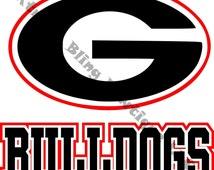 Georgia Bulldogs Car Decal